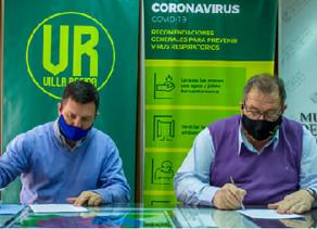 Orazi firmó un convenio de cooperación y asistencia con ANSES