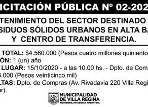 Licitación Pública Nº 02/2020