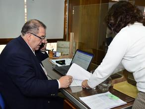 Orazi firmó la adjudicación de la obra de reparación de la calle Libertad