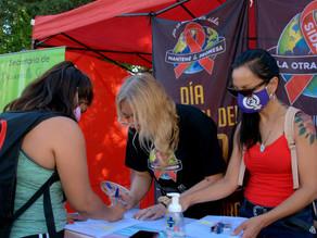 Lucha contra el SIDA: se destacó la participación en actividad desarrollada en Plaza de los Próceres