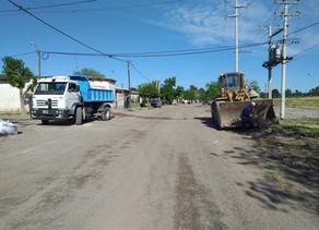 Trabajos de limpieza en barrios reginenses