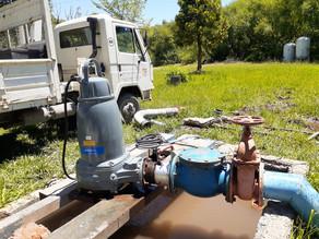 Se instaló una nueva bomba en la planta de agua ubicada en Godoy