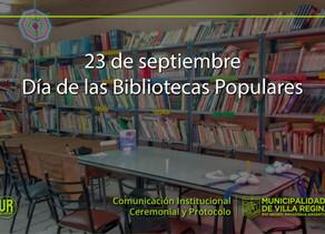 ¡Felicidades Bibliotecas Populares!
