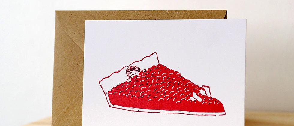 Carte postale « Tarte aux framboises »