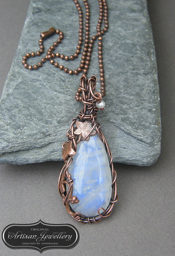 Copper gemstone jewellery