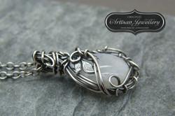 Sterling silver moonstone pendant
