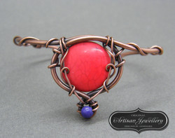 Striking copper wire wrapped bangle