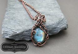 Copper labradorite necklace