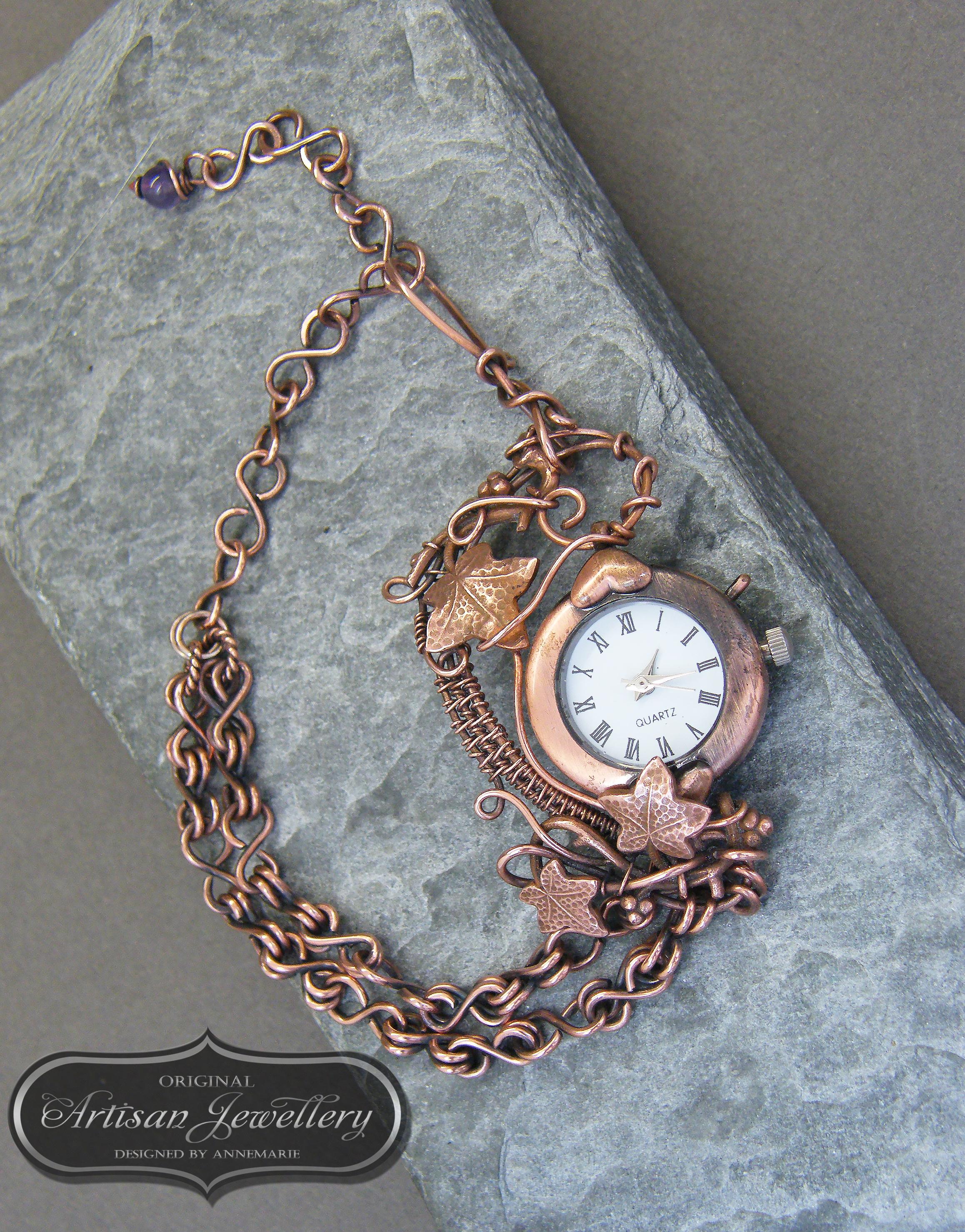 Unique copper watch ~ Ladies watch