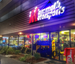 Mammoth Motorsports Store Front Sign