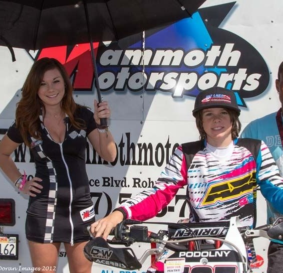 Mammoth Motorsports Umbrella Girl