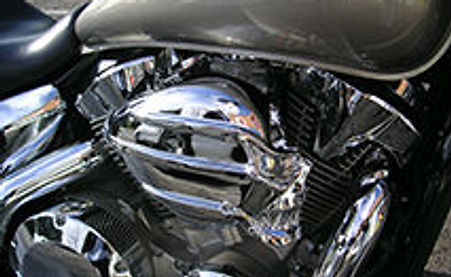 Silver Motorbike Front