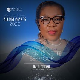 Alumni Awards 2020 Antoinette Seymour  (