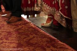 Steps towards the groom!