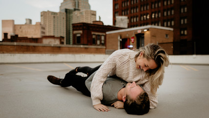 Liz & Christian   Pittsburgh, PA  Rooftop Engagement Session