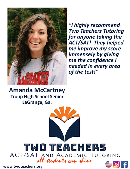 Two Teachers Testimonials Amanda McCartn