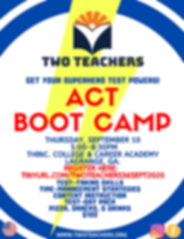 Two Teachers Flyer Sept 2020 ACT BOOT CA