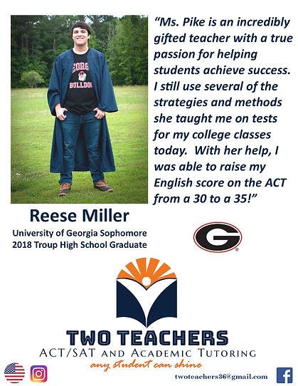 Two Teachers Testimonials Reese Miller.j