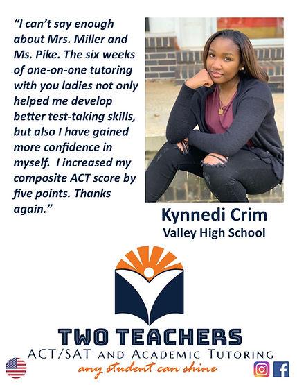 Two Teachers Testimonials Kynnedi Crim.j