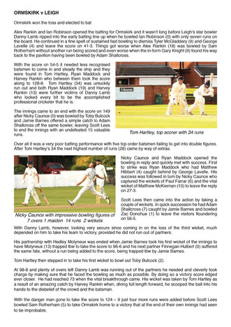 Ormskirk v Leigh Match report