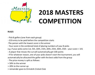 OCC - 2018 Masters Competition