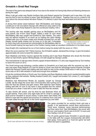 Match report - 1st XI v Orrell Red Triangle