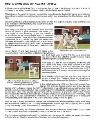 1st XI Rainhill Match report 3-8-19.