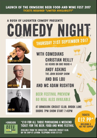 Comedy Night & Beer Fest Launch!