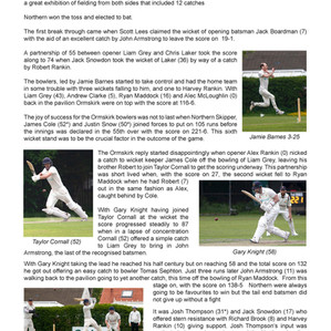 Northern CC v Ormskirk CC 29/5/21 - Match report