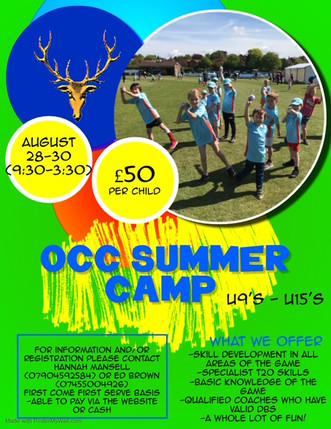 OCC Summer Camp 28th-30th August