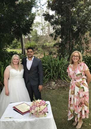 Meredith & Ahmed - COVID wedding so keeping our distance