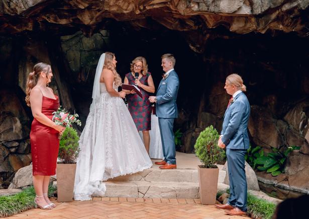 Sharon & Warren wed at the Waterfall Groto at Tamborine Gardens