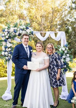 Jewelya & Trey -home wedding Logan