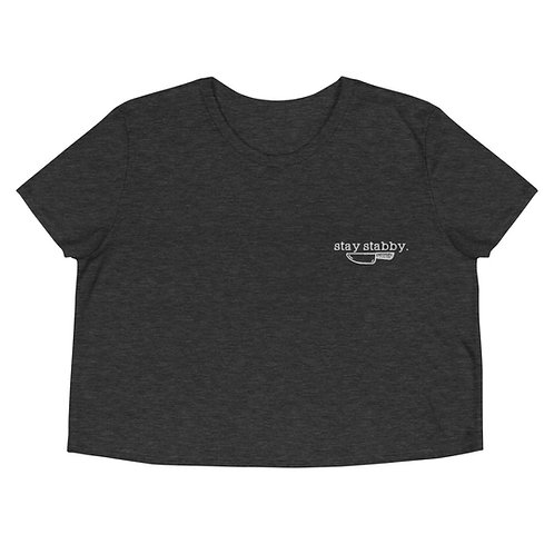 Stay Stabby Embroidered Crop Tee