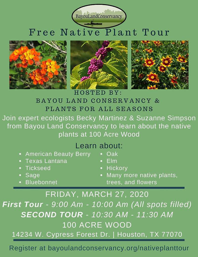 Second Tour - Native Plant Tour 100 Acre
