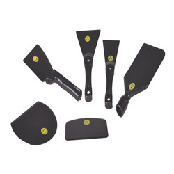 several spatulas