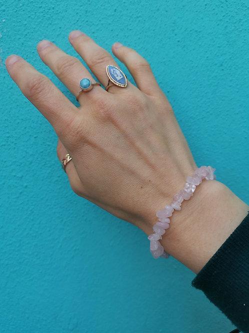 Rose Quartz Chip Bead Bracelet