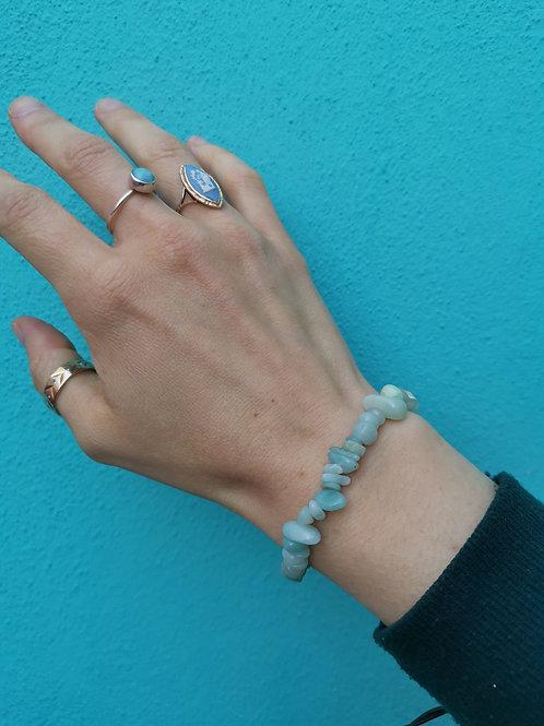 Turquoise Amazonite Chip Bead Bracelet