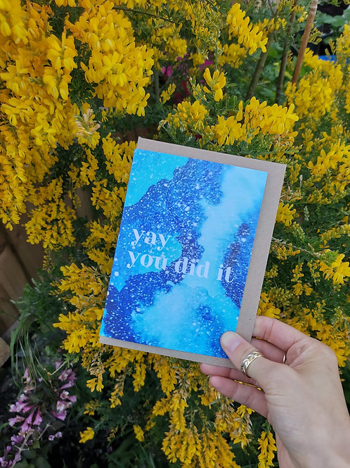 Yay, You Did It Greetings Card
