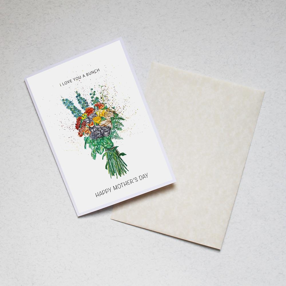 Bex Create Floral Card.