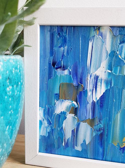 Golden Waves - Acrylic Seascape Original Painting