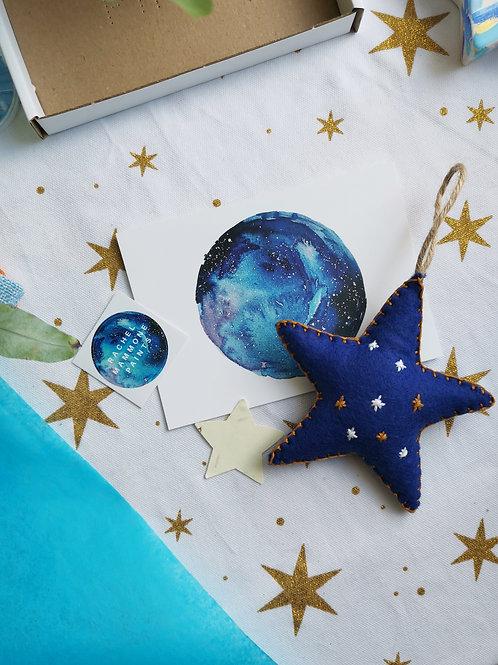 Handmade Felt Star Decoration
