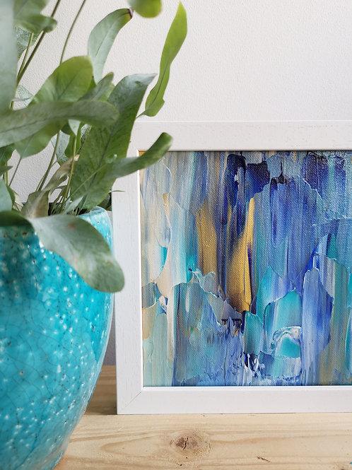 Turquoise Waves - Acrylic Seascape Original Painting