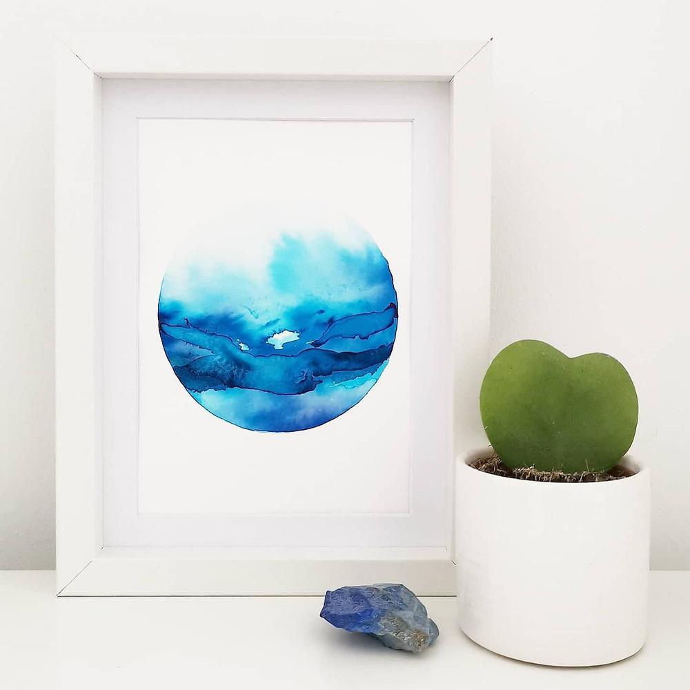 Rachel Mammone Paints Sea Print