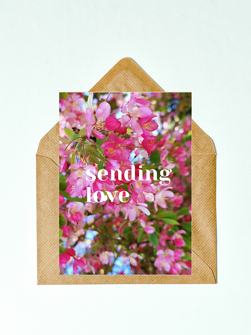 Sending Love Greetings Card