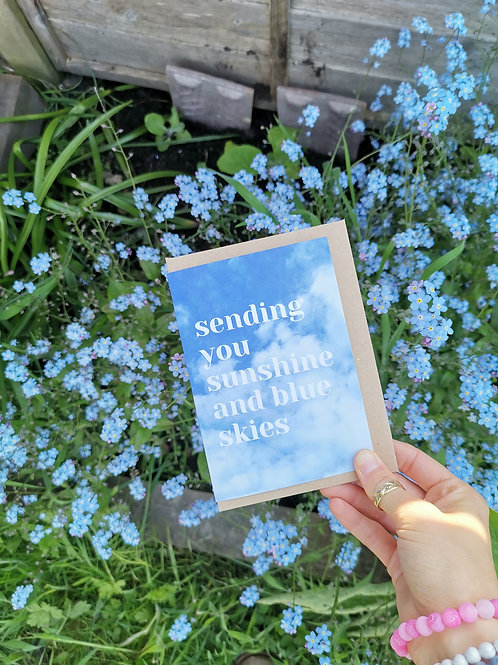 Sunshine and Blue Skies Greetings Card