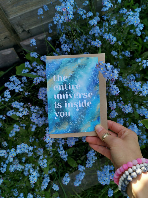 Entire Universe Greetings Card