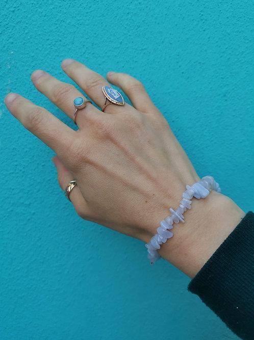 Lace Agate Chip Bead Bracelet