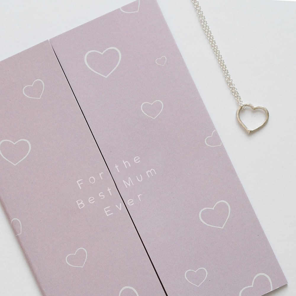 Rix + Riva necklace and card set.