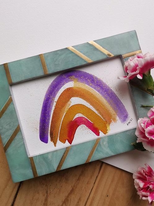 Purple and Orange Rainbow - Original Painting